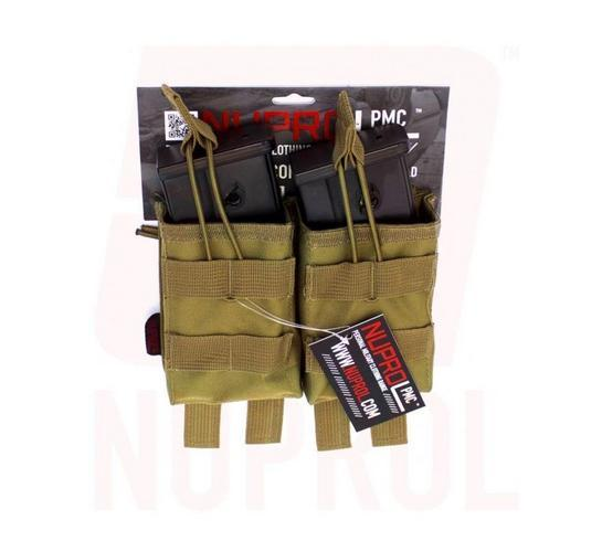 Nuprol PMC G36 Double Open Mag Pouch - Tan