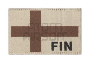 Clawgear Suomen lippu velcromerkki - hiekka