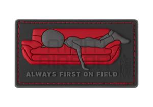"""JTG """"Always First on Couch"""" PVC velcromerkki"""