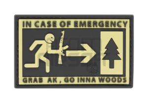 """JTG """"Emergency"""" PVC velcromerkki"""