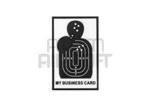 """JTG """"My Business Card"""" 3D velcromerkki - musta/valkoinen"""