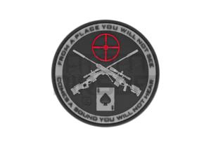 JTG Sniper PVC velcromerkki – musta/harmaa
