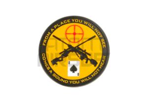 JTG Sniper PVC velcromerkki - keltainen