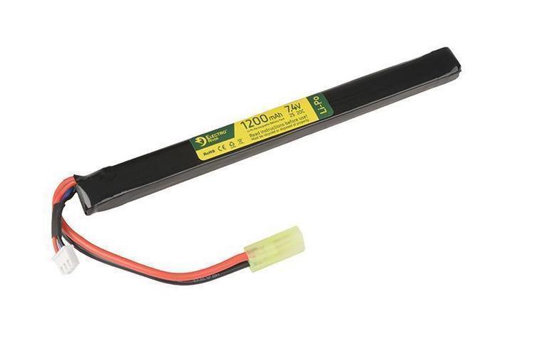 Akumulator LiPo 7,4V 1200mAh 20/40C; pod pokrywę replik AK