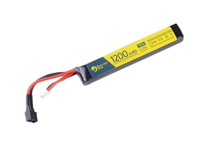 Electro River ™ LiPo-akku 11,1V 1200mAh 15/30C, T-liitin (DEANS)