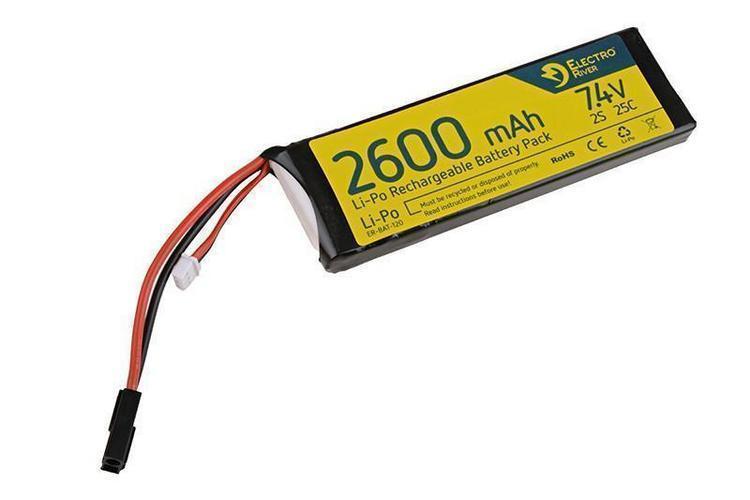 Electro River ™ LiPo-akku 7,4V 2600mAh 25/50C -miniliitin