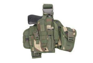 GFC Tactical Modulaarinen reisipaaneli pistooliholsterilla - woodland