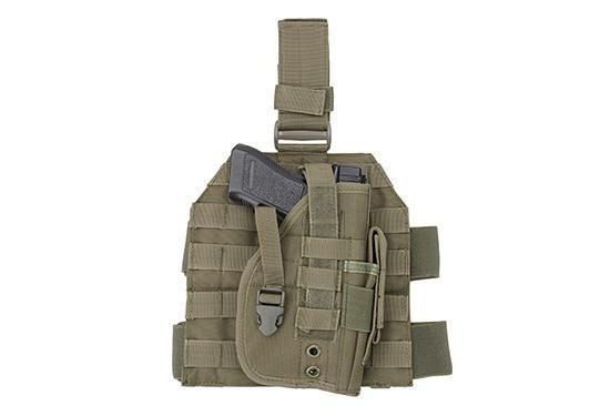 GFC Tactical MOLLE-reisipaneeli pistoolikotelolla - OD