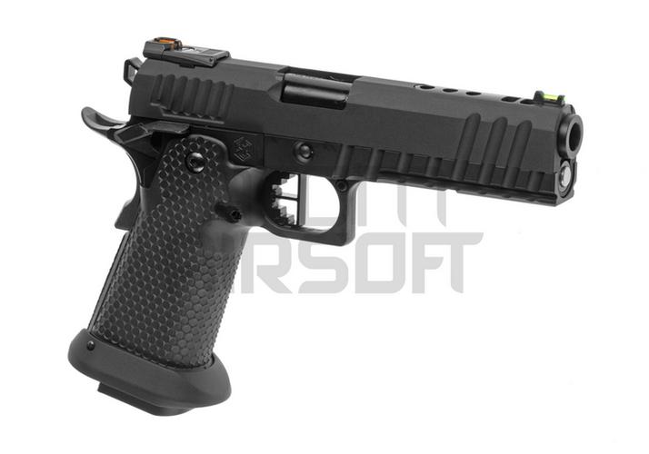 AW Custom HX2003 GBB-pistooli, täysmetallinen – musta