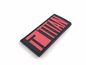 TITAN Power logo PVC velcromerkki